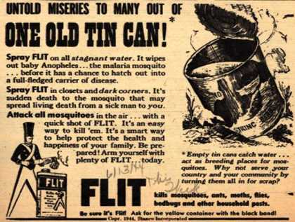 Stanco Incorporated's Flit – Untold Miseries to Many Out of One Old Tin Can (1944)