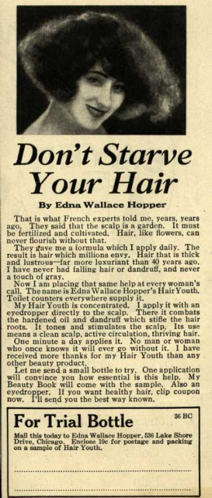 Edna Wallace Hopper's Hair Youth – Don't Starve Your Hair (1926)