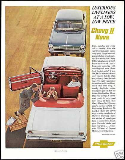 Chevrolet Chevy II Nova 2 Car Photo Vintage (1962)