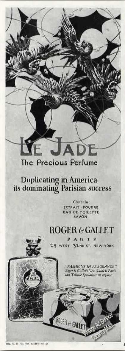 "Le Jade ""The Precious Perfume"" Antique (1924)"