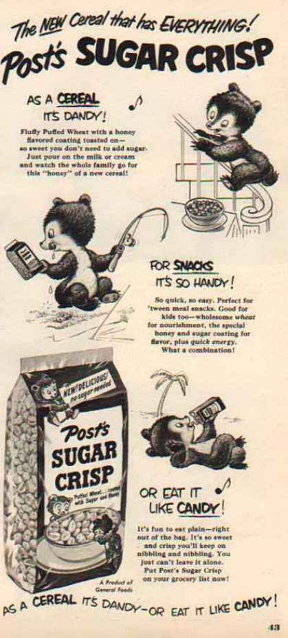 Posts Sugar Crisp – Sugar Bear (1950)