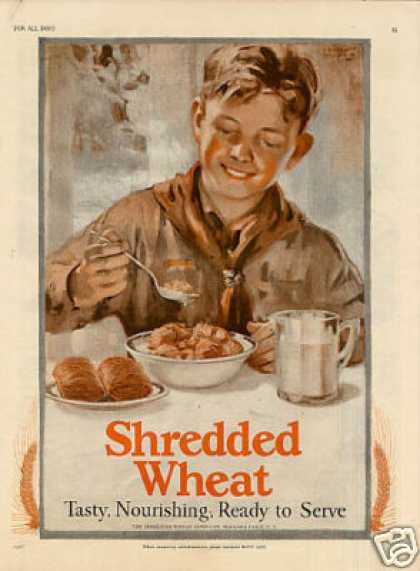 Shredded Wheat Ad Boyscout/l.wilb (1927)