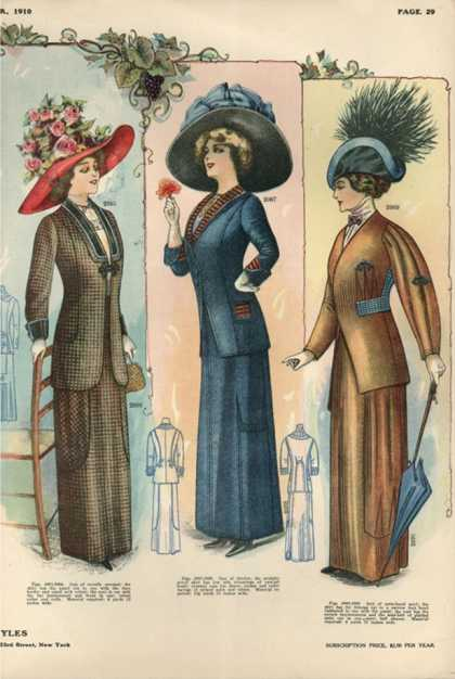 Womens Hats, USA (1910)
