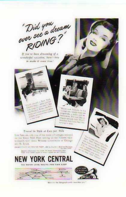 New York Central Train – Dream Riding (1941)