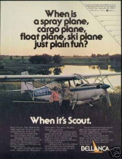 Bellanca Scout Vintage Airplane Aircraft Photo (1975)