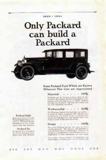 Packard Car – Only Packard can build a Packard (1924)