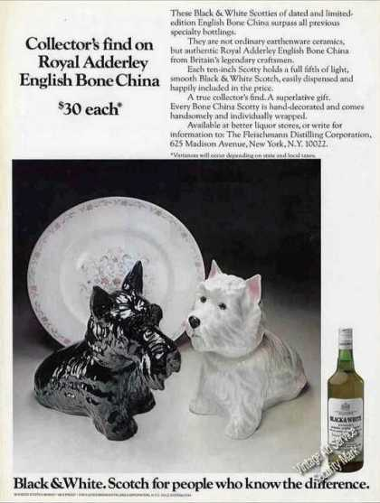 Black & White Scotch In English Bone China (1971)