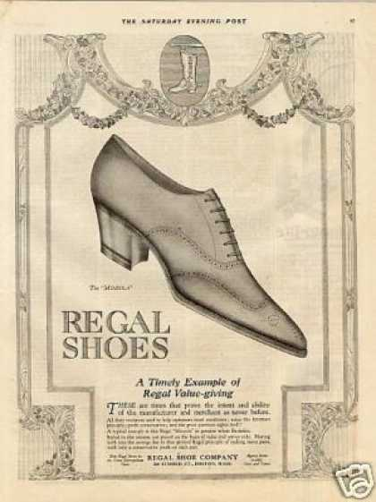 "Regal ""Mineola"" Shoe (1920)"