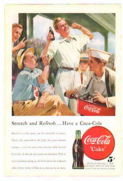 Coke – 7th Inning Stretch and Refresh – Sold (1948)