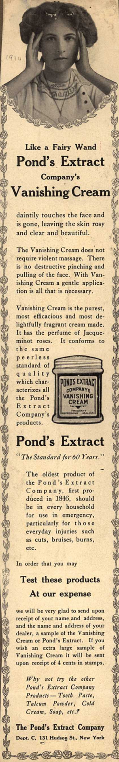 Pond's Extract Co.'s Pond's Vanishing Cream and Extract – Like a Fairy Wand (1910)