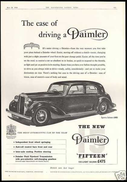Daimler Fifteen Sports Saloon Car UK (1938)