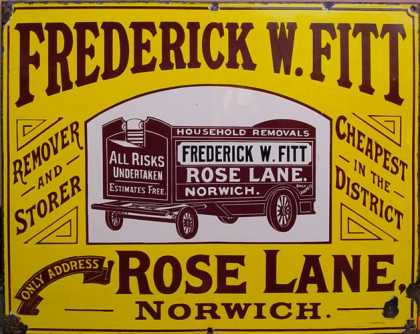 Frederick W. Fitt Removals Sign