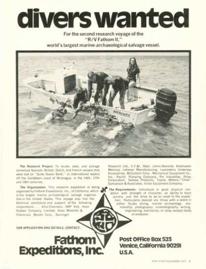 Fathom Expeditions Inc Scuba Dive T (1971)