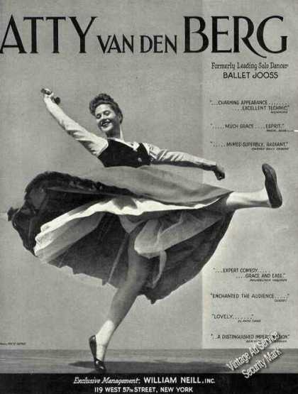 Atty Van Den Berg Photo Dancer Trade (1941)