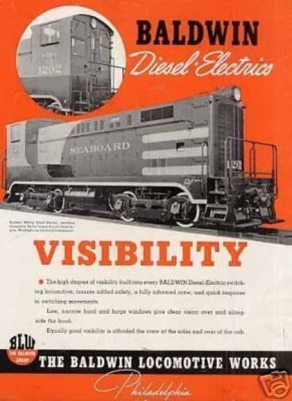 Baldwin Locomotive Ad Seaboard Air Line Vo #1202 (1941)
