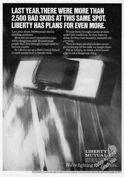 Liberty Mutual Skid Control School (1971)