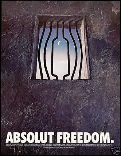 Absolut Freedom Jail Bars Vodka (1996)