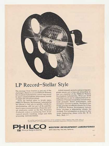 US Army Courier Satellite Philco Labs (1961)