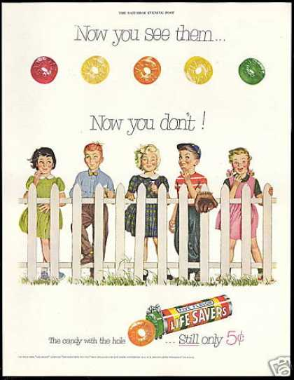 Life Savers Candy With the Hole Cute Kids (1954)