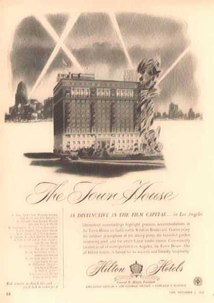 Hilton Hotel – The Town House, Los Angeles (1952)