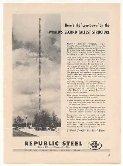USAF Radio Tower Forestport NY Republic Steel (1953)