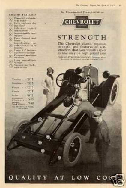 Chevrolet Car Ad Chevrolet Chassis (1925)