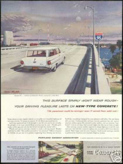 Ford 2 Dr Falcon Wagon Photo Portland Cement (1960)