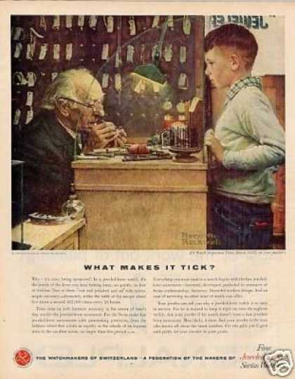 Watchmakers Ad Boy/norman Rockwell Art (1958)