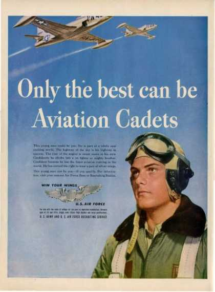 Us Air Force Cadet Jet Pilot Plane Ad T (1948)