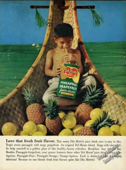 Del Monte Juice Drinks Tropical Scene (1961)