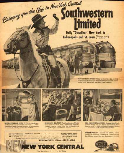 New York Central System's Southwestern Limited – Bringing you the New in New York Central, Southwestern Limited (1949)