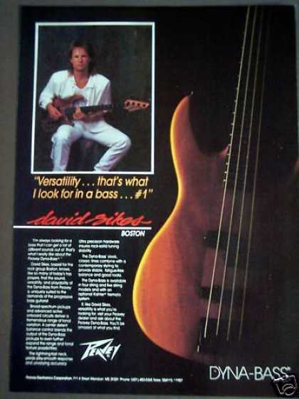 David Sikes of Boston Peavey Dyna-bass Guitar (1988)
