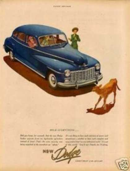 "Dodge Car Ad ""Hold Everything... (1947)"