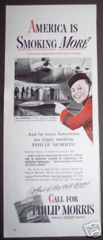 Philip Morris Served On Pan Am Airlines (1943)