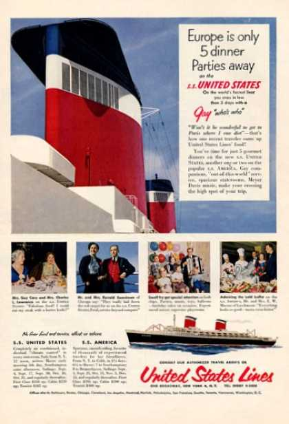 United States Lines Nice Detailed Color (1953)