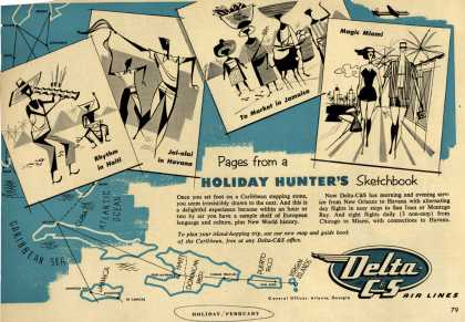 Delta C&S's Caribbean – Pages from a Holiday Hunter's Sketchbook (1954)