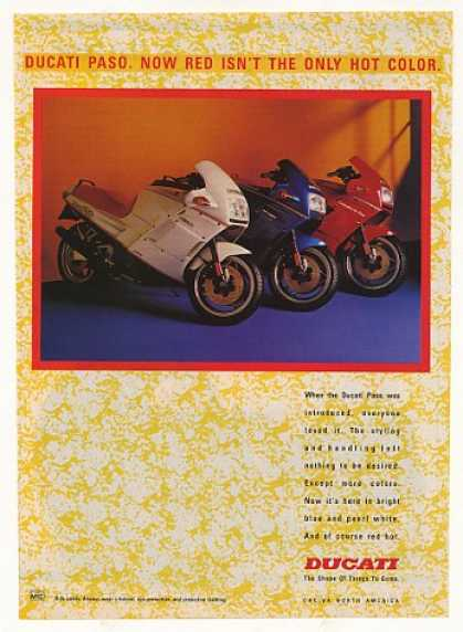 Ducati Paso Motorcycle White Blue Red (1988)