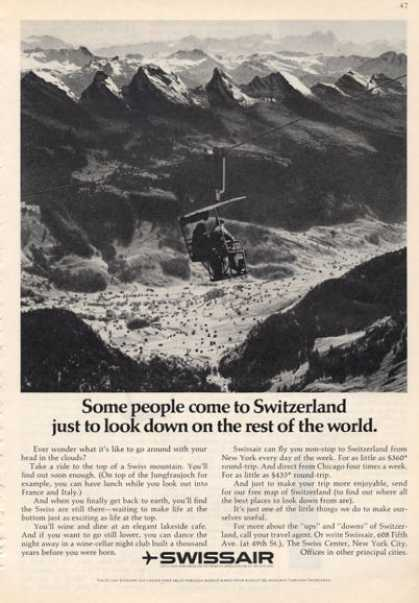Swissair Switzerland Snow Ski Lift (1966)