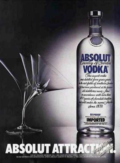 Absolut Vodka Absolut Attraction (1987)