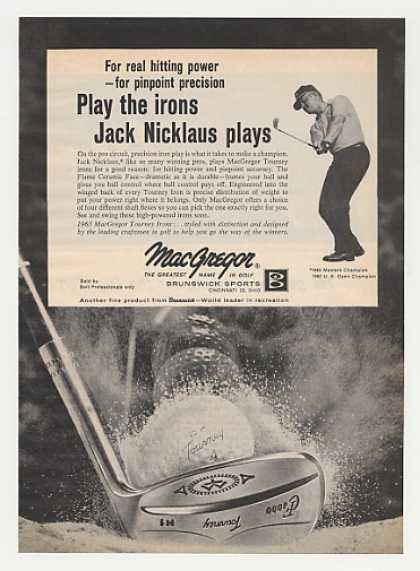 Jack Nicklaus MacGregor Golf Club Irons Photo (1963)