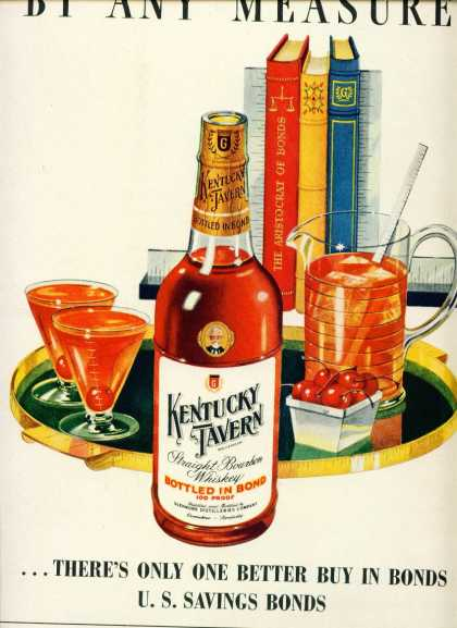 Kentucky Tavern Bourbon Whiskey By Any Measure C (1948)