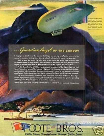 Foote Bros. Ad Navy Blimp (1943)