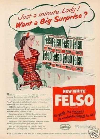 Felso Soap Detergent (1952)