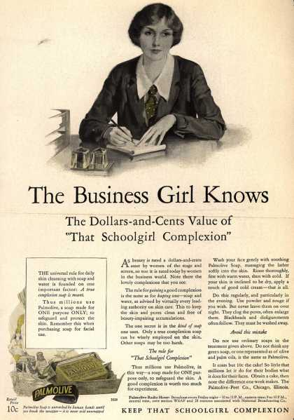 Palmolive Company's Palmolive Soap – The Business Girl Knows (1928)