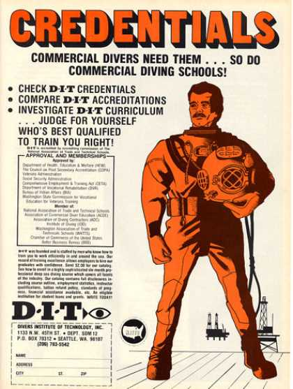Dit Scuba Diving School Copper Helmet T (1979)