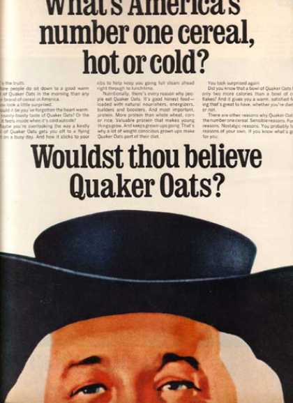 "Quaker's ""What's America's number one cereal, hot or cold?"" (1966)"