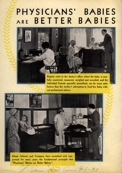 Mead Johnson and Company's Dextri-Maltose – Physicians' Babies Are Better Babies (1930)