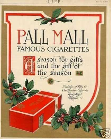 Pall Mall Cigarettes Color (1913)