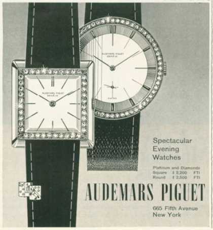 Audemars Piguet Diamond Platinum Watch (1958)