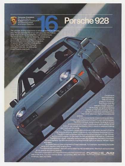 Porsche 928 Cooperation No. 16 Color Photo (1982)
